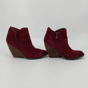 Very Volatile Burgundy Ankle Booties Sz 8.5